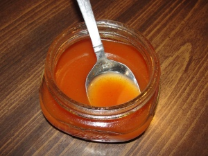 4 Sons 'R' Us: Homemade Cold Medicine in a small wide mouthed glass jar with a silver colored spoon