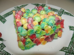 4 Sons 'R' Us: Monster Trix Bars on a green and white plate