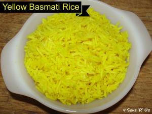 4 Sons 'R' Us: Yellow Basmati Rice
