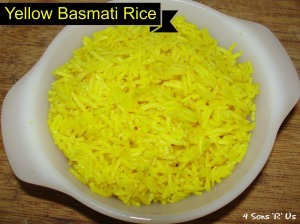 4 Sons 'R' Us: Yellow Basmati Rice