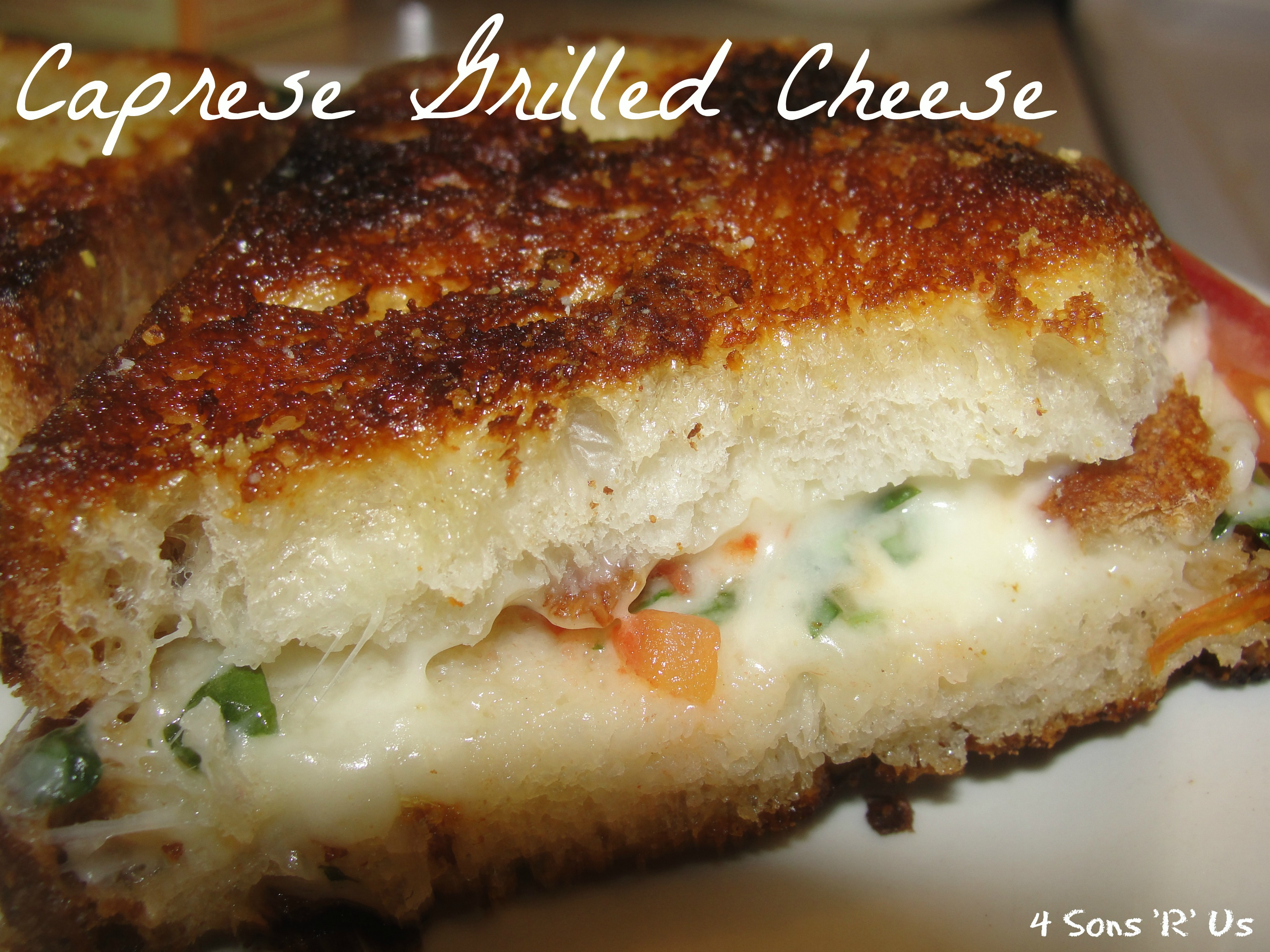 Sons 'R' Us: Caprese Grilled Cheese Sandwich