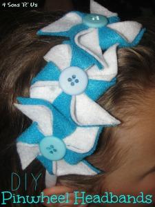 4 Sons 'R' Us: DIY Pinwheel Headbands