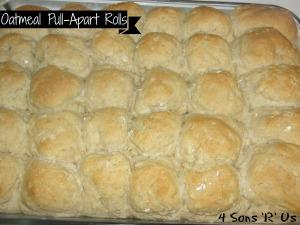 4 Sons 'R' Us: oatmeal pull apart rolls