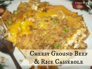 4 Sons 'R' Us: Cheesy Ground Beef & Rice Casserole