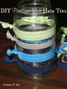 4 Sons 'R' Us: DIY Boutique Style Hair Ties