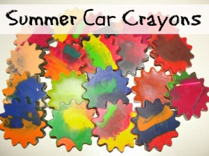 4 Sons 'R' Us: Summer Car Crayons