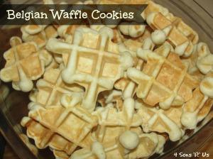 4 Sons 'R' Us: Belgian Waffle Cookies