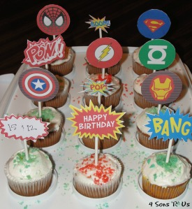 4 Sons 'R' Us: Comic Book Cupcakes 2