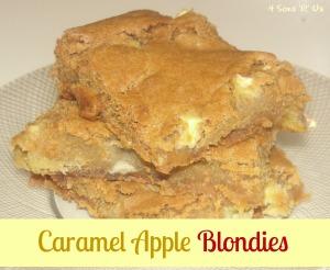 4 Sons 'R' Us: Caramel Apple Blondies