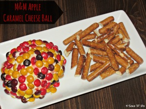 4 Sons 'R' Us: M&M Apple Caramel Cheese Ball