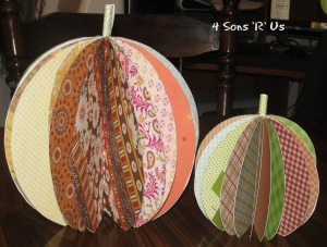 4 Sons 'R' Us: scrapbook paper pumpkin