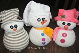 4 Sons 'R' Us: sock snowmen