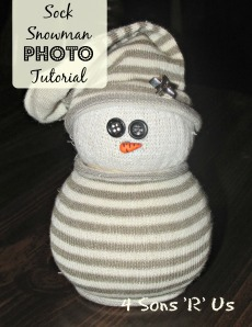 4 Sons 'R' Us: Sock Snowman Photo Tutorial 2