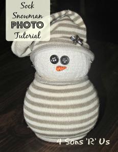 4 Sons 'R' Us: Sock Snowman Photo Tutorial 2
