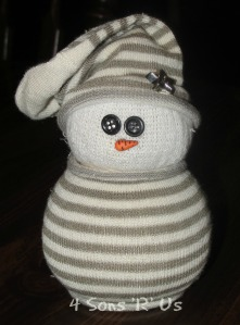 4 Sons 'R' Us: sock snowman
