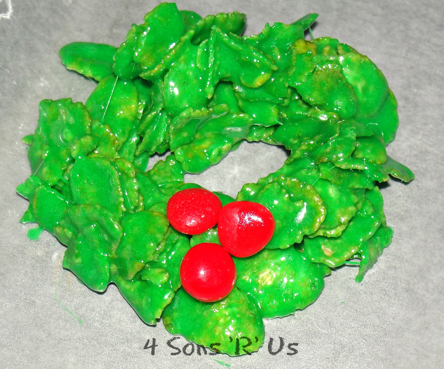 Christmas Wreath Cookies.Christmas Wreath Cookies 4 Sons R Us