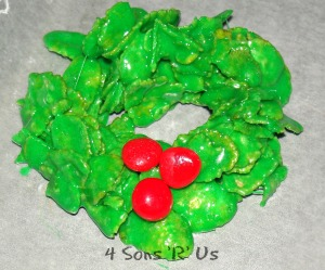 4 Sons 'R' Us: Christmas Wreath Cookies
