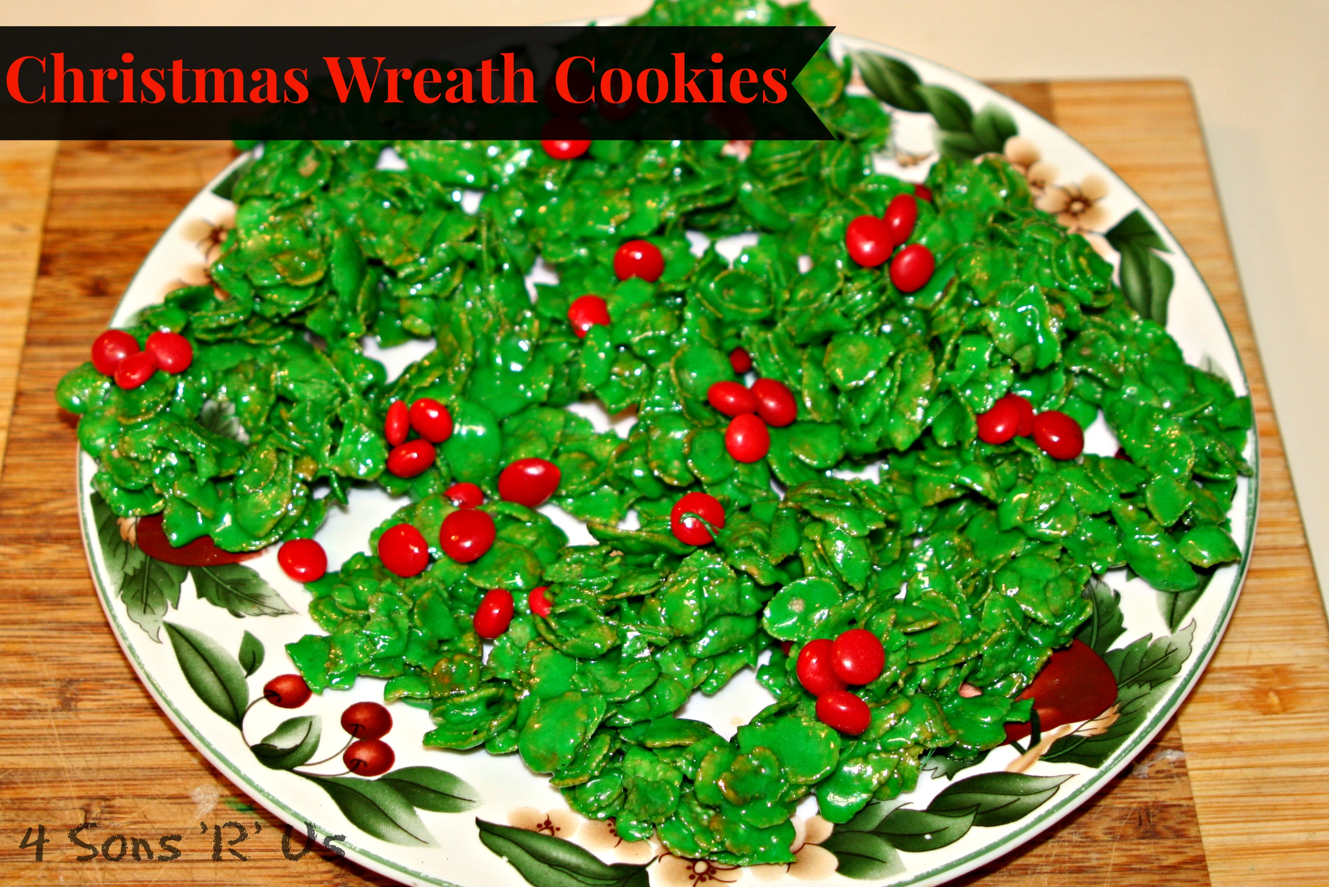 Christmas Wreath Cookies 4 Sons R Us