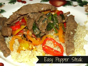 4 Sons 'R' Us: Easy Pepper Steak