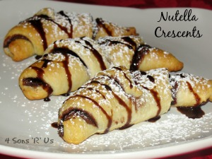 4 Sons 'R' Us: Nutella Crescents