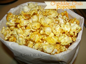 4 Sons 'R' Us: Cheddar Chili Popcorn