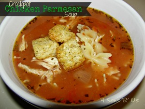 4 Sons 'R' Us: Crockpot Chicken Parmesan Soup