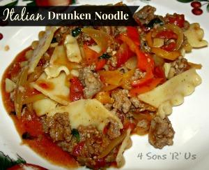 4 Sons 'R' Us: Italian Drunken Noodle