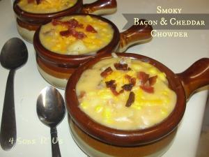 4 Sons 'R' Us: Smoky Bacon & Cheddar Chowder
