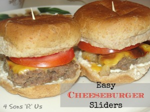 4 Sons 'R' Us: The World's Easiest Cheeseburger Sliders