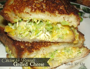 4 Sons 'R' Us: Chicken & Broccoli Grilled Cheese