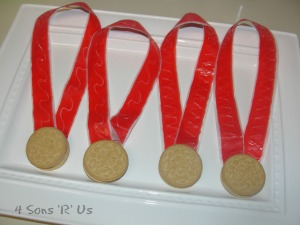 4 Sons 'R' Us: edible 'gold' medals
