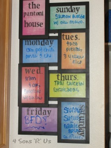 4 Sons ;R; Us: DIY Weekly Menu/Memo Board