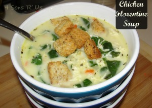 4 Sons 'R' Us: Chicken Florentine Soup