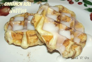 4 Sons 'R' Us: Cinnamon Roll Waffles