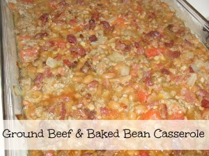 4 Sons 'R' Us: Ground Beef & Baked Bean Casserole