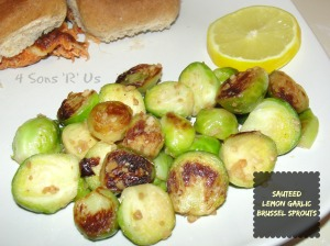 4 Sons 'R' Us: Sauteed Lemon Garlic Brussel Sprouts
