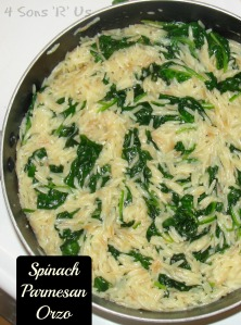 4 Sons 'R' Us: Spinach Parmesan Orzo