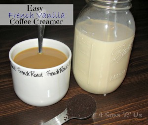4 Sons 'R' Us: Easy French Vanilla Coffee Creamer