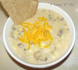 4 Sons 'R' Us: sausage & grits chowder