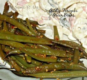 4 Sons 'R' Us: Garlic Teriyaki Green Beans
