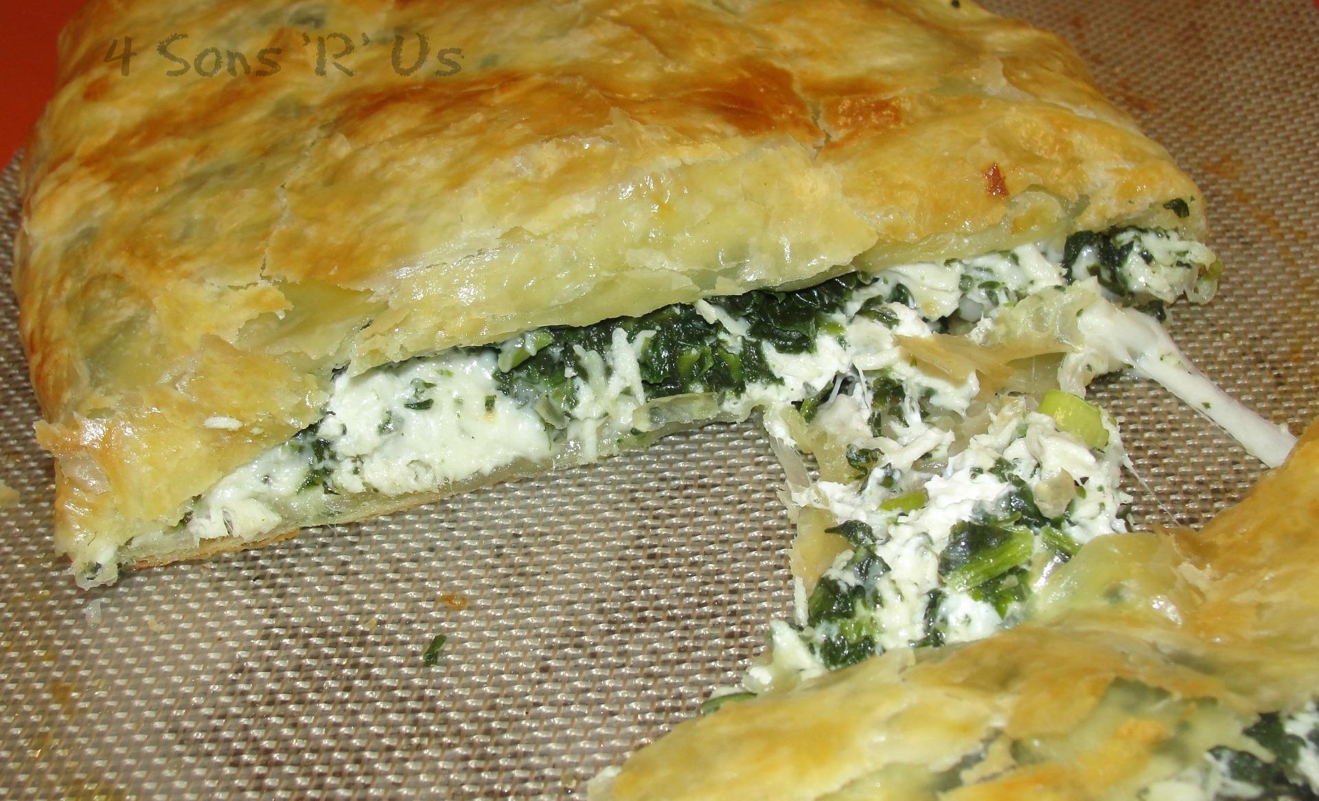 Greek Spinach Feta Chicken Pockets - 4 Sons 'R' Us