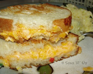 4 Sons 'R' Us: Grilled Pimento Cheese Sandwich 2