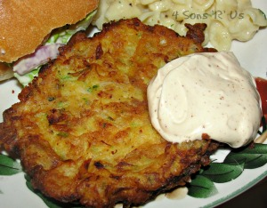 4 Sons 'R' Us: Zucchini Fritters with chili lime mayo