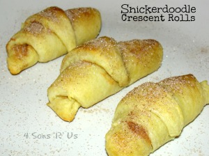 4 Sons 'R' Us: Snickerdoodle Crescent Rolls 2