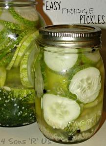 Easy Fridge Pickles