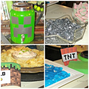 minecraft party collage