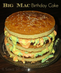 Big Mac Birthday Cake
