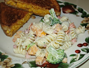ranch veggie pasta salad 3