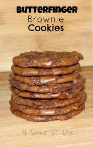 Butterfinger Brownie Cookies