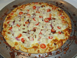 Chicken Bacon Garlic Ranch Pizza
